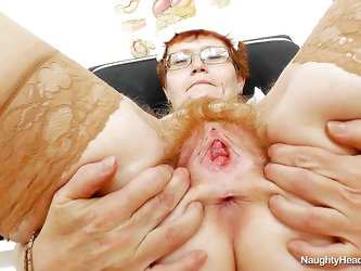 Jindriska is a filthy granny nurse, that loves to play with her saggy pussy now and then. When this old whore has a moment to spare, she makes herself