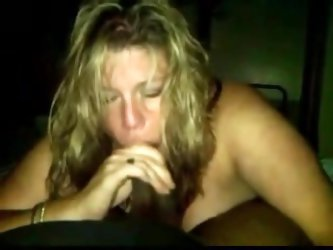 Divorced white mom loves to suck on his black cock