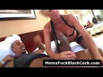 Horny Blonde Cougar Sucks Black Dick When Husband Is ...