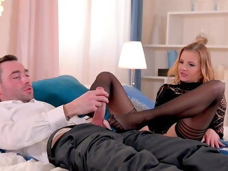 Candy Alexa issues super sexy footjob during a romantic interlude