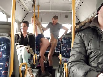 These two are so fucking shameless! Blonde babe Lindsey and this guy are in the back of a bus when suddenly, things get hot between them. Without any