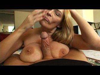 Mature whore swallows a younger cock