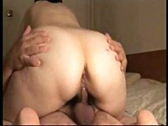 Fat ass bitch wife gives a slow paced smother to her husbands dick in this spy camera video, overdubbed by some great, funk-influenced library music,