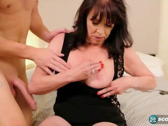 Christina Starr is using every opportunity to suck cock and get it inside her trimmed pussy
