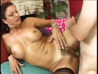 Hairy mature pounded in the asshole