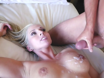 Blonde babe craves to soak her step son's dick into her ass