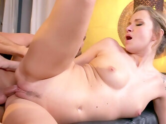 Insane mommy porn while the bitch constantly fingering her tits