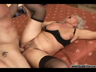 Granny with a fat ass fucked hard