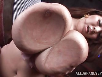 Her huge boobs are a delight but aren't you curious what she keeps between her curvy thighs? This Tokyo bitch is awesome and breasts deserve our