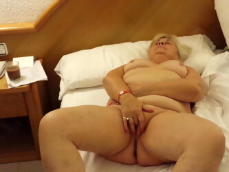 Aged 63yo fingering her cunt on holiday
