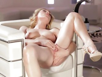 Jessica Drake is a gorgeous, pale blonde who -- lucky us -- is willing to strip to nothing and finger her shaved pussy on camera. Personally, I could