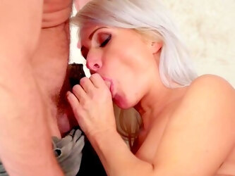 Elegant MILF spreads wide for cock in the end of a remarkable foreplay
