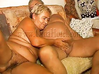 Enjoy watching this old couple having lustful couch sex. The old man delights himself with this granny, kissing her and then he receives a short blowj