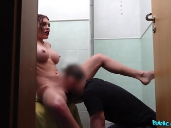 Fucking in the bathroom and on the floor with MILF Kitana Lure