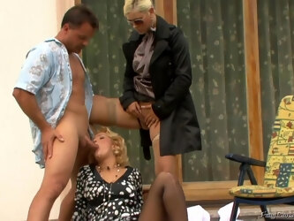 Kinky Woman Brought Hot Blonde To Her Husband