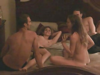 Sexy playful swingers party all night long! Amanda is attracted to Giselle and wants to make her cum. The girls have their asses and pussies spanked.