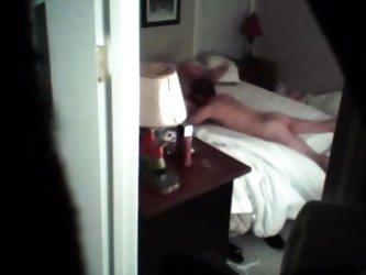 Chunky wife caught fucking younger neighbour - hidden livecam in closet