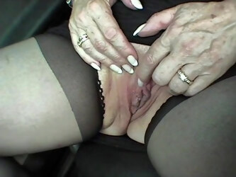 Secretary Gisela has to masturbate naked in public