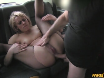 Amazing fucking in the back of the taxi with sexy Brittany Bardot