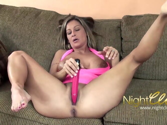 Busty blonde mature has first sex in front of camera