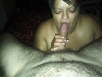 BBW deepthroating and ass fingering
