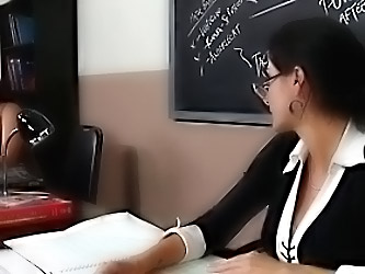 Gorgeous Brunette Milf Teacher P...
