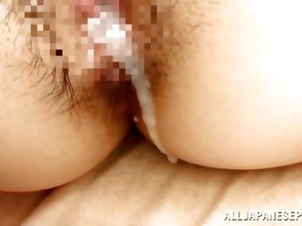 Big juicy lips, big boobs and thighs that greet cock and semen between them. Damn, this whore deserves the name Lascivious! Look at her how she rides