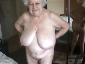 Old nude grandma with big boobs