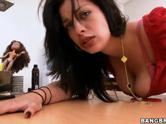 Hot Angelica wants to have great anal sex and she gets her anus ready for this wonderful action. Her boyfriend sneaks his finger into her hole and ple