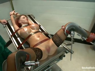 Joslyn James is well known for her love affair with Tiger Woods. She does her first hardcore bondage and domination scene for SexandSubmission.com and