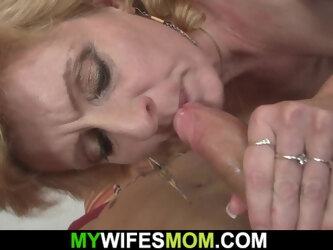 He fucks mom in law from behind and gets busted