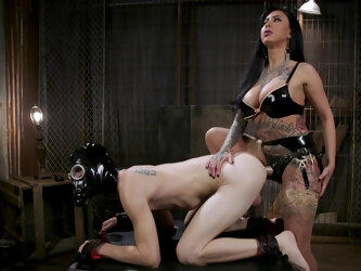 Harsh scenes of female domination with a smashing Asian mistress