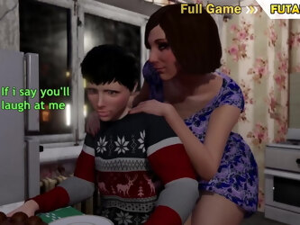 3D Shemale Mom makes a Gift to her Step Son - Transvestite X