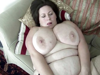 Watch this chubby lady with huge natural tits and fatty body making love with a guy. See how she is getting her amazing tits fucked and then starts gi