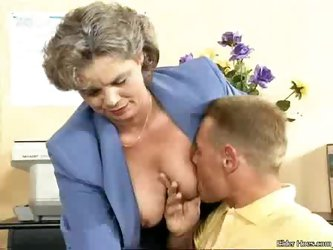 Grandma fucking with a young boy