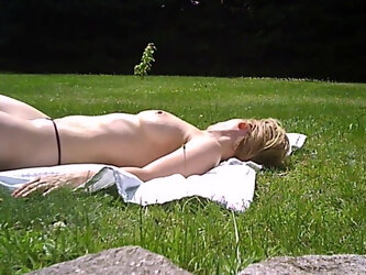 topless sunbathing