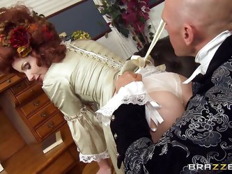 Her husband yelled at her for her artistic tastes! The Victorian babe Veruca needs a man to hear and understand her, and that man is Sins. He can help