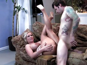 She tells him she is sick of feeling like his mom and if he is going to treat her like such, she is going to spank him like his mommy.