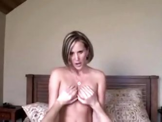 In this private sex tape, a hot amateur MILF babe sucking a big cock with her luscious wet mouth like a real fucking whore and enjoys every minute of